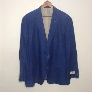 Daniel Cremieux blue 100% linen sport coat blazer